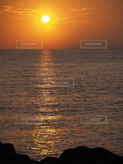 自然,海,夕日,太陽,日常