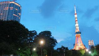 空,公園,東京タワー,夕暮れ,夕方,タワー,都会,芝公園,日暮れ