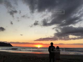 風景,海,空,夕日,太陽,雲,千葉県
