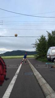 風景,空,屋外,北海道,少年,キャッチボール,東川町,写真の町