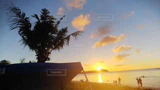 夕日,ビーチ,グアム,サンセット