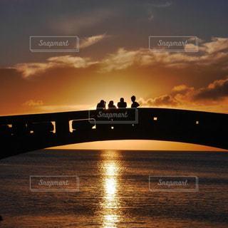風景,海,空,夏,夕日,橋,ビーチ,沖縄,旅行,友達