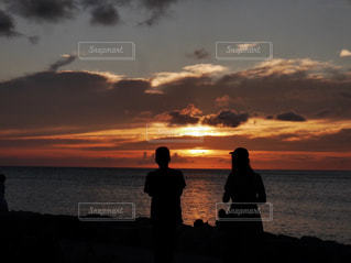 風景,海,空,夏,夕日,ビーチ,沖縄,旅行,友達