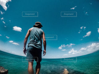 カリブ海を臨むの写真・画像素材[1313609]