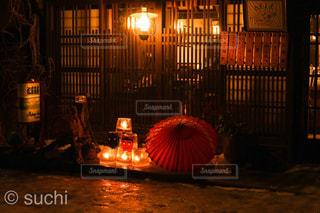 夜,屋外,キャンドル,鬼,節分,奈良井宿