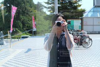 カメラ,自撮り,屋外,人物,セルフィー,セルフショット