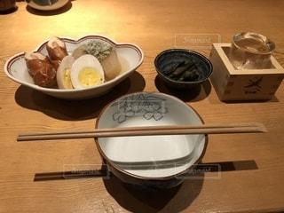 日本酒におでんの写真・画像素材[1513050]