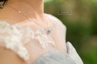 水色ネックレスの写真・画像素材[1320530]