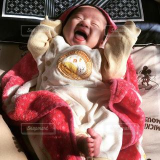 赤ちゃんの笑顔の写真・画像素材[1374845]