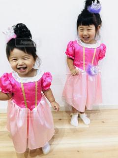 子ども,ピンク,スマイル,女の子,笑顔,kids,Snapmart,姉妹,にこにこ,pink,ぴんく,姉妹コーデ,フォトコン,オーロラ姫,ぷりんせす,プリンセスドレス