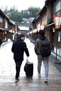 後ろ姿,バック,旅行,金沢,東茶屋街,石川,インスタ映え
