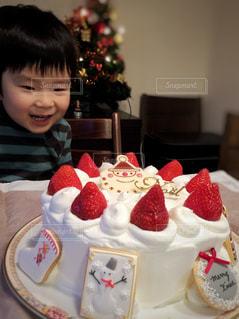 クリスマスケーキの写真・画像素材[1667544]