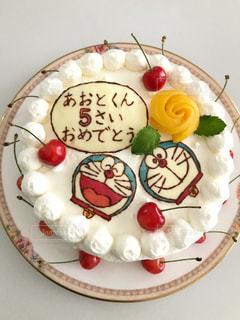 ドラえもんケーキの写真・画像素材[3200273]