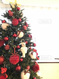 テディベアのクリスマスツリーの写真・画像素材[3976628]