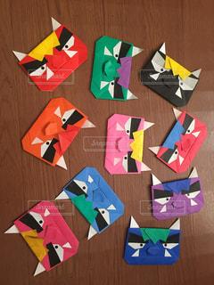 節分の折り紙製作の写真・画像素材[1771019]