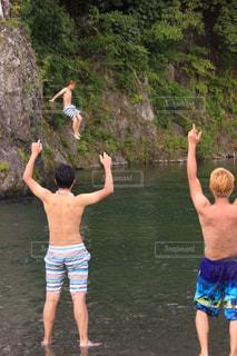 屋外,水面,泳ぐ,人物,マリンスポーツ
