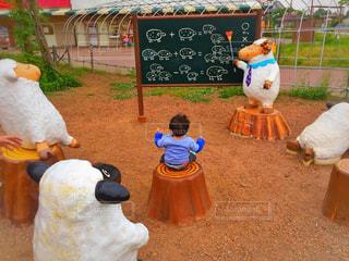 羊,子供,勉強,ベビー