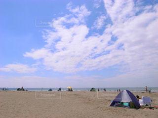 海,空,夏,屋外,砂浜