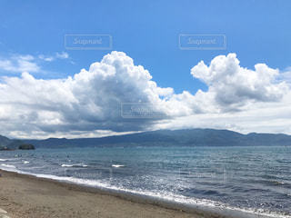 自然,海,空,雲,海岸,景色,熱中症