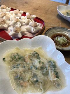 秋,手料理,食欲の秋,海老ワンタン,白いんげん豆餡の求肥包み