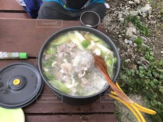 北岳登山で鍋の写真・画像素材[1700878]