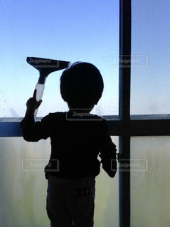 冬,窓,朝,結露,掃除