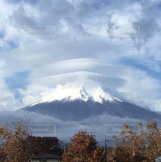 富士山,雪,雲,忍野八海,フジヤマ,二重傘雲