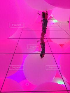 ピンク,ボール,チームラボ