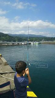 堤防釣りの写真・画像素材[1386244]