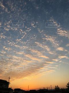 風景,空,秋,雲,オレンジ,岡山,倉敷,秋空,波状雲