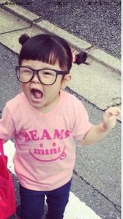 3歳メガネ女子の写真・画像素材[1350106]