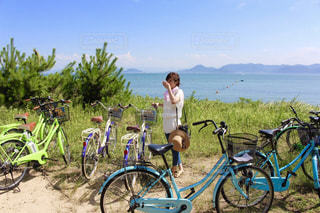 直島でサイクリングの写真・画像素材[1422878]