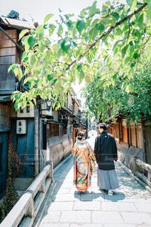京都での和装前撮りの写真・画像素材[1586431]