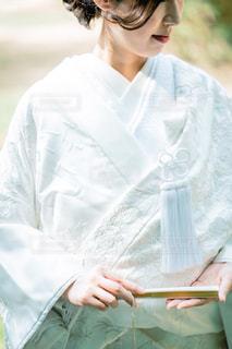 白無垢を着た女性の写真・画像素材[1657541]