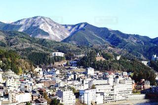 下呂温泉の旅館から見た景色の写真・画像素材[1779613]