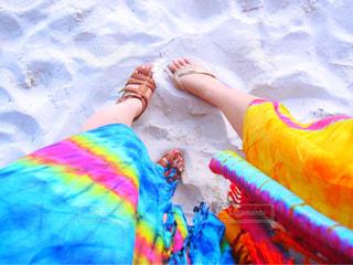 女子2人の足元の写真・画像素材[1801379]