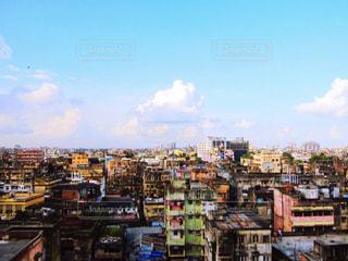 コルカタの街並みと空の写真・画像素材[2017252]