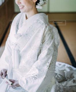 白無垢姿の女性の写真・画像素材[2349450]