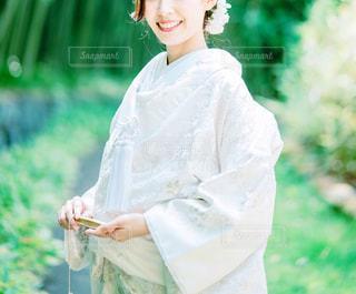 白無垢を着た女性の写真・画像素材[2351181]