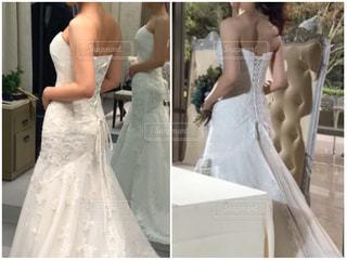 ウェディングドレスを着た人の写真・画像素材[3001879]