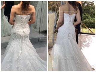 ウェディングドレスを着た女性の写真・画像素材[3001882]