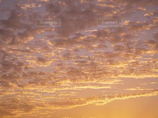 自然,風景,空,秋,夕日,屋外,夕焼け,景色,うろこ雲,秋空,愛媛県
