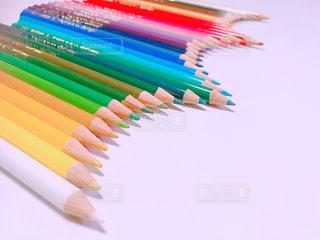 36色の色鉛筆を並べてみましたの写真・画像素材[1582012]