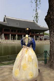 韓国・景福宮にての写真・画像素材[2167799]