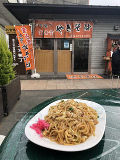 料理,焼きそば,昼飯,富士宮