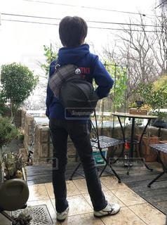 庭,サッカー,小学生,手作り,息子,雨の日