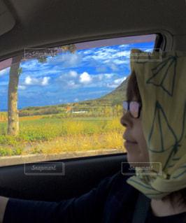 空,夏,雲,青空,ドライブ,運転,夏バテ,手ぬぐい,熱中症対策
