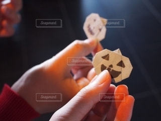 カボチャの折り紙の写真・画像素材[2503397]