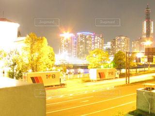 夜の街の写真・画像素材[1399124]