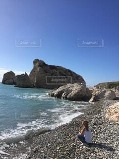 キプロスのきれいな海の写真・画像素材[1385932]